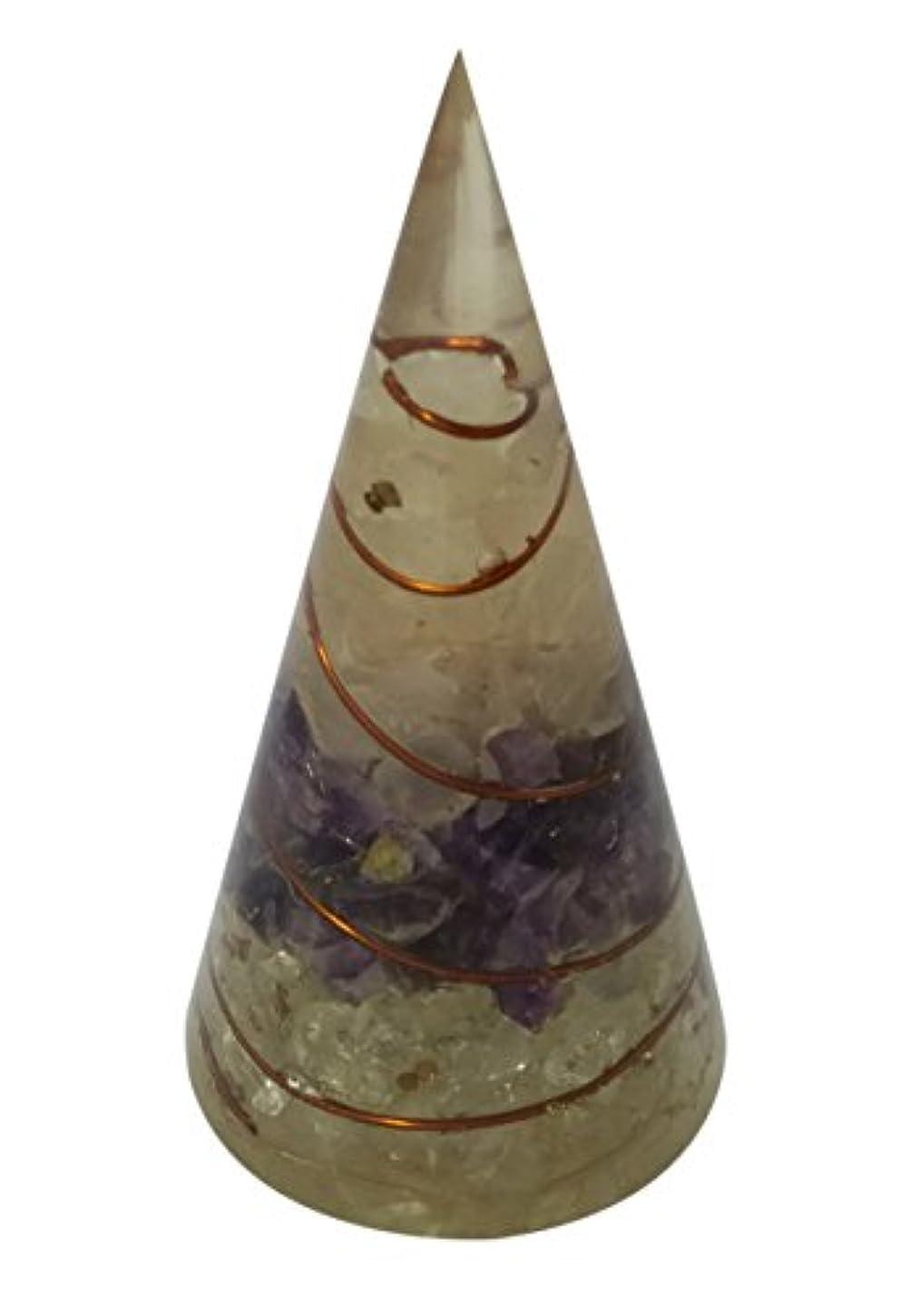 シャベル天窓旅wholesalegemshopローズクォーツ、アメジスト、クリスタルクォーツOrgone円錐形ピラミッド円錐形状アンテナ