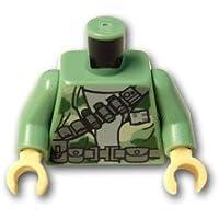 レゴブロックパーツ トルソー - 迷彩と弾薬ベルト:[Sand Green / サンドグリーン]【並行輸入品】