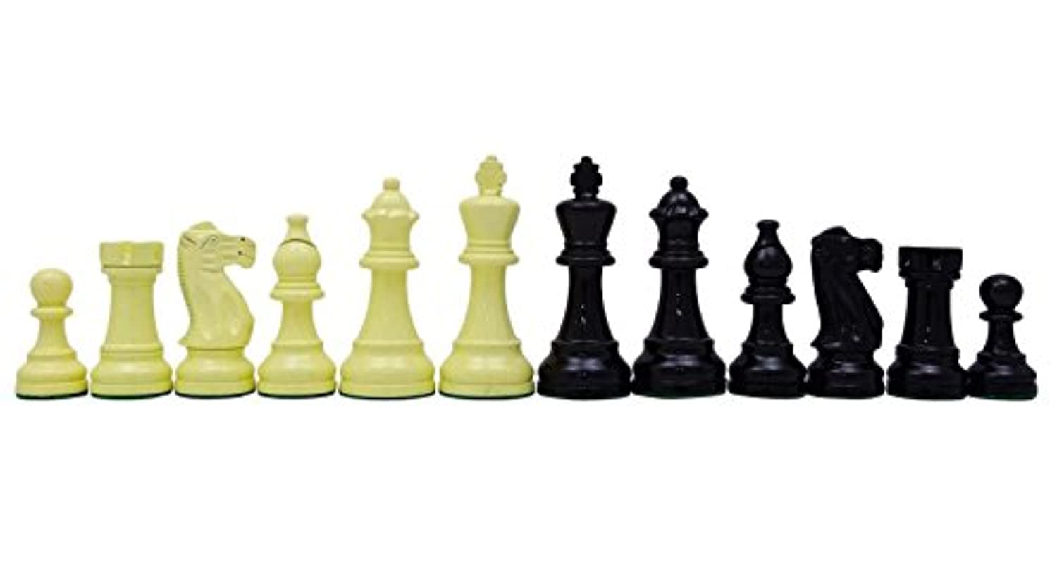 Chessmate Lacquered Knight Staunton Hand Crafted Chessmen Weighted King's Height 116 mm Gift For Men