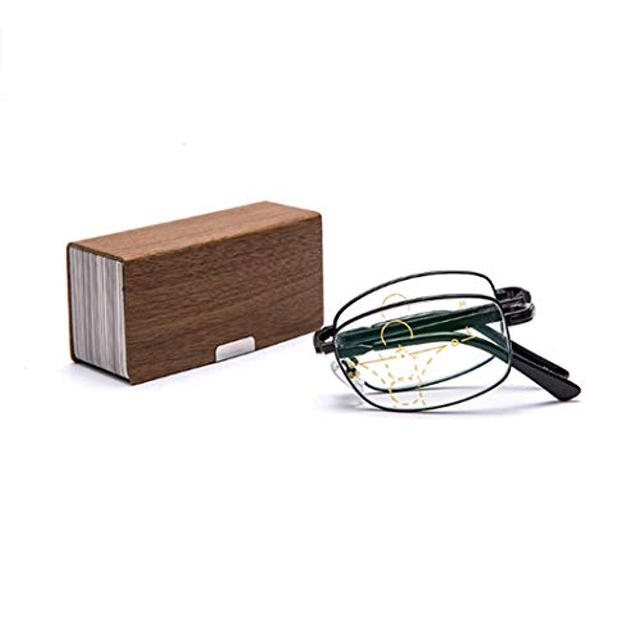 腐食するとまり木好き折りたたみ式フォトクロミック老眼鏡、累進多焦点眼鏡、ポータブル高解像度ファッション眼鏡、国内外で快適に着用可能