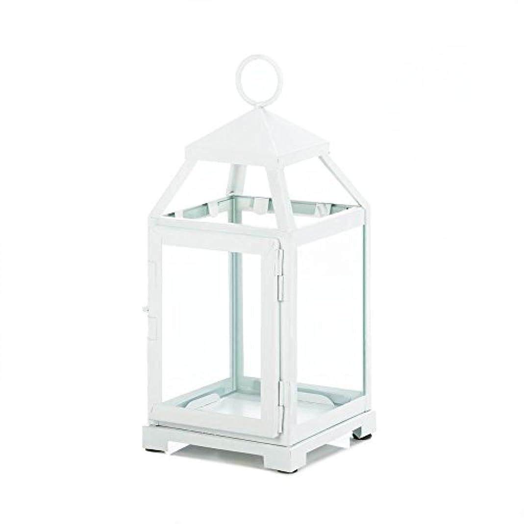 いっぱい永久含めるGallery of Light 10018115 White Contemporary Candle Lantern - 12 in.