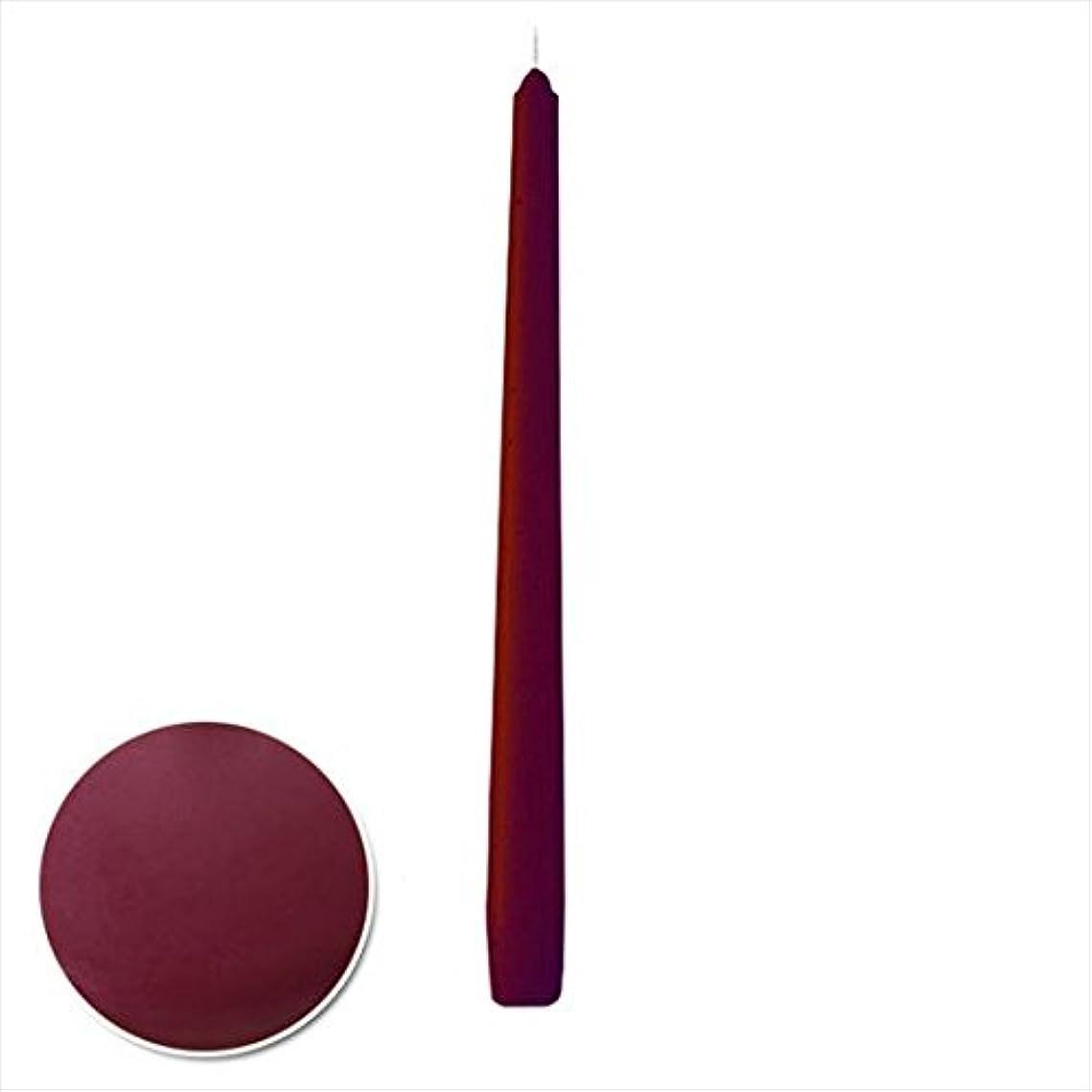 祈りピジン代替カメヤマキャンドル( kameyama candle ) 12インチテーパー 「 ボルドー 」 12本入り