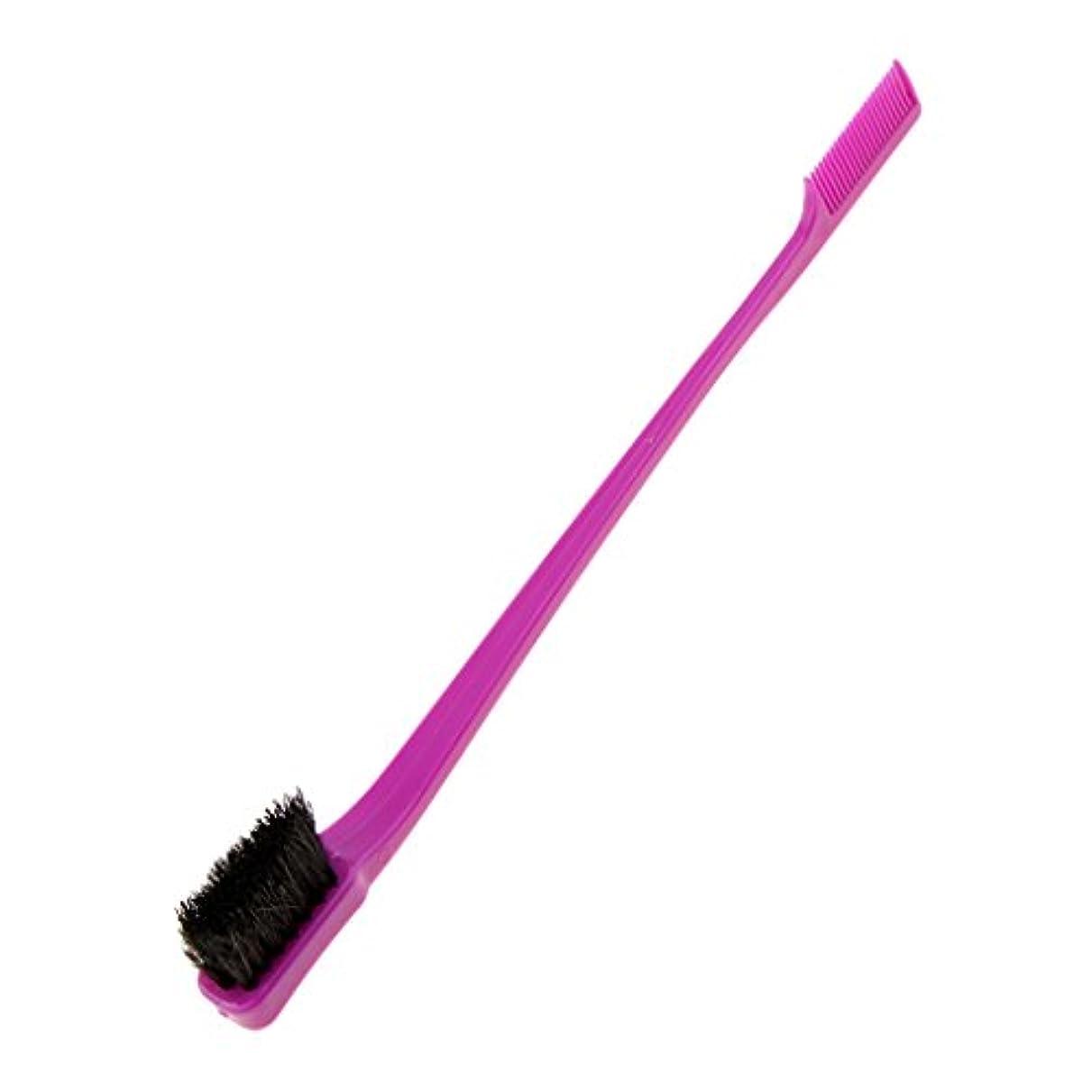 ブラケットバルセロナ空中Toygogo ヘアブラシ コーム シェービングブラシ ラインひげ整え エッジ削り 髪型 4色選べる - 紫