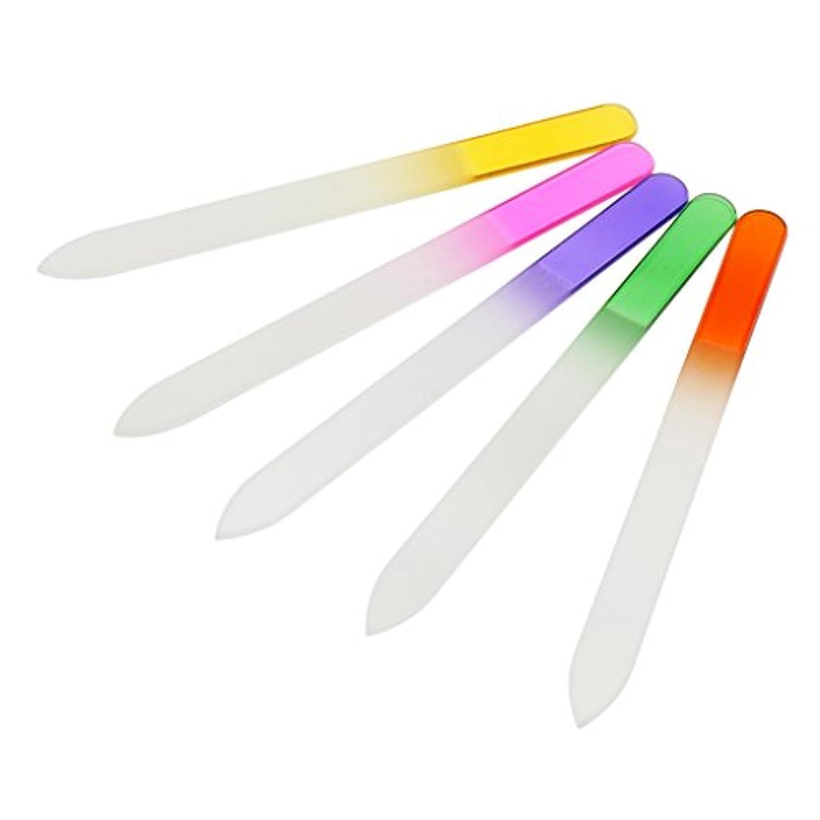 木製クローゼット効能あるDYNWAVE 5個クリスタルガラスネイルアートバッファファイルプロファイルマニキュアデバイスツール