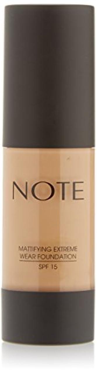 借りているねばねば驚いたNOTE Cosmetics 艶消しExtremeは財団ポンプを着用し、1.18液量オンス 第08