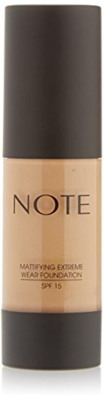 反逆者掘る崇拝するNOTE Cosmetics 艶消しExtremeは財団ポンプを着用し、1.18液量オンス 第08