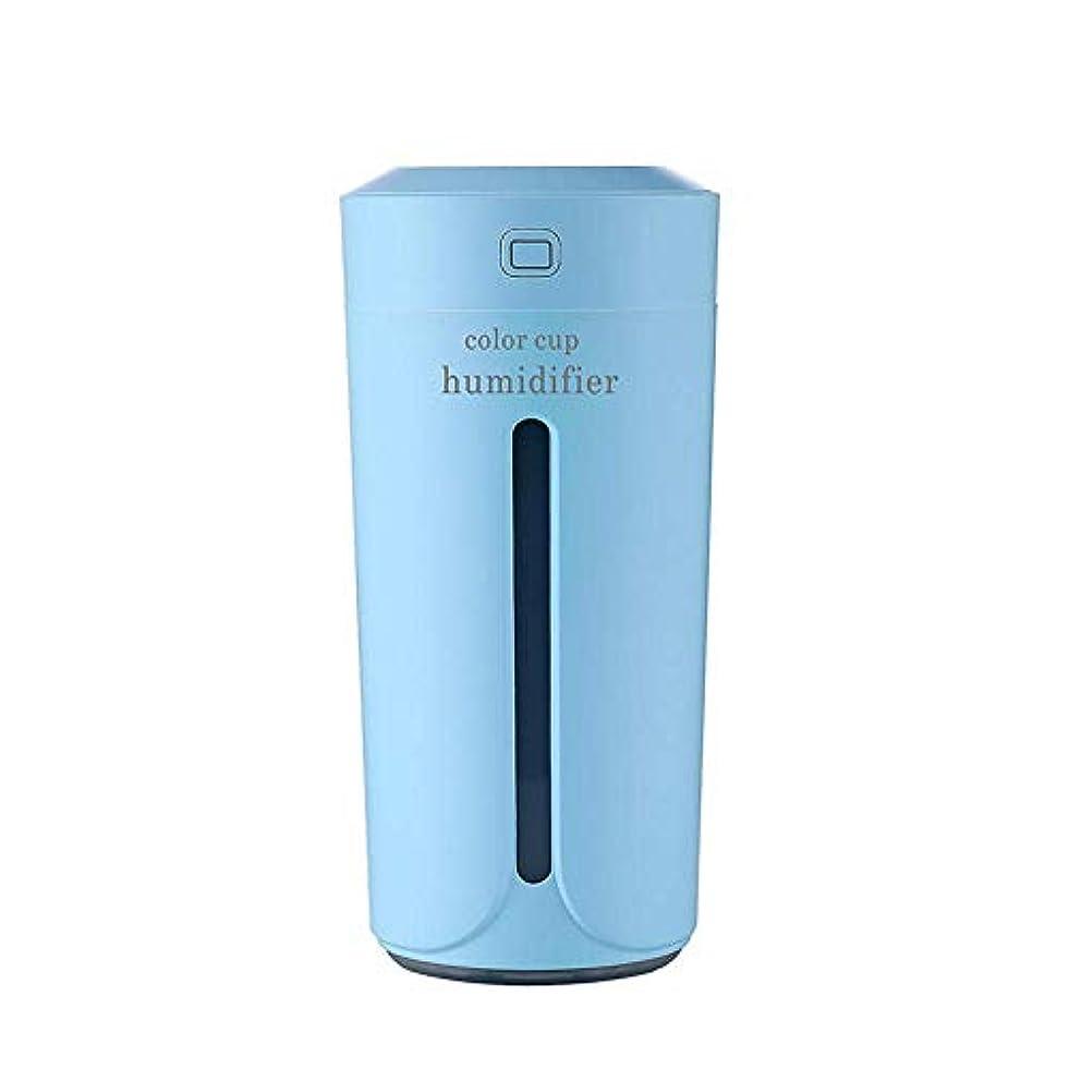 それによって範囲石膏SOTCE アロマディフューザー加湿器超音波霧化技術満足のいく解決策美しい装飾卓上ソフト変色 (Color : Blue)
