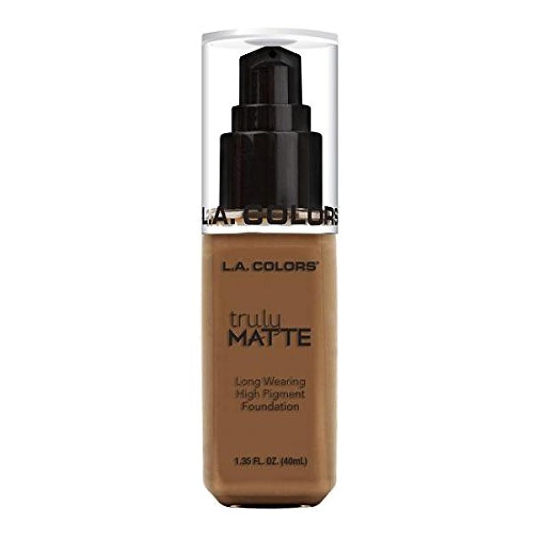 吐き出すのり指(3 Pack) L.A. COLORS Truly Matte Foundation - Cappuccino (並行輸入品)
