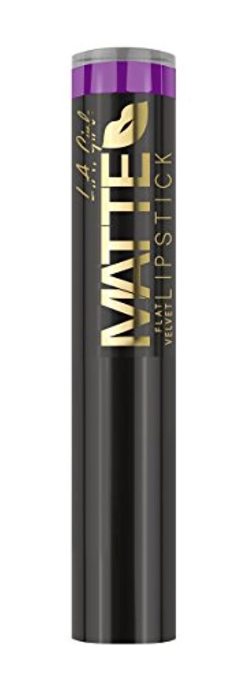 専制発症終わったL.A. GIRL Matte Flat Velvet Lipstick - Love Triangle (並行輸入品)