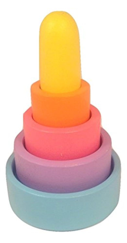 Colored木製スタッキング&ネスティングピラミッド – Hand Made Waldorf Toy