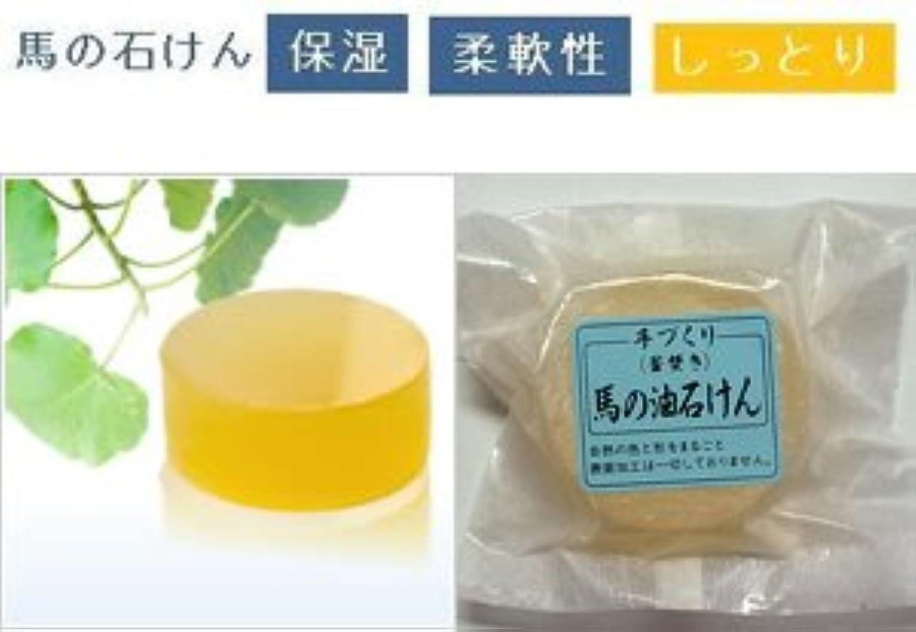 美しい貨物脅迫馬油石鹸 池田さんの無添加*釜焚き馬油石鹸80g(リーファショップ)