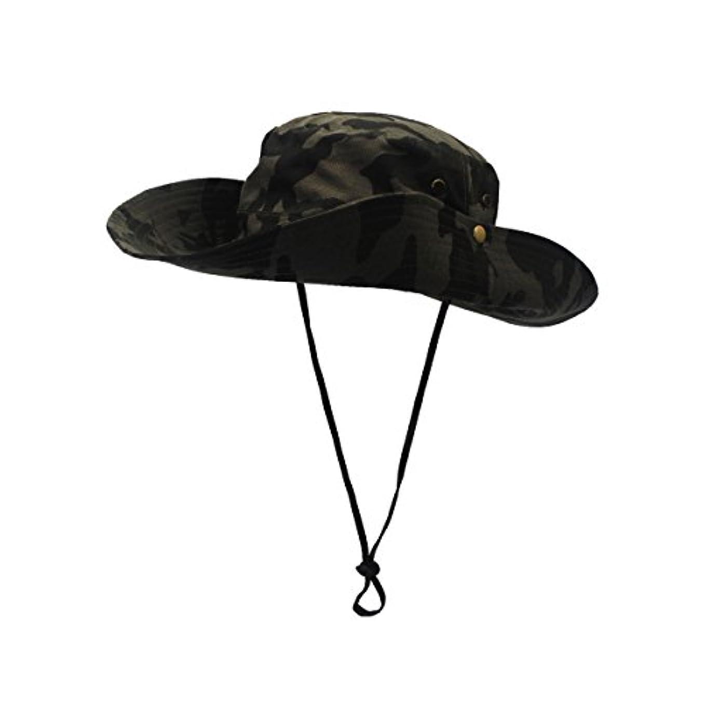 完全に乾く腫瘍トラフィックOutfly男女兼用アウトドアサンキャップカモフラージュバケットメッシュBoonie帽子Hunting Hats