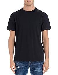 Acne Studios メンズ 25U173MEASUREBLACK ホワイト コットン T-シャツ