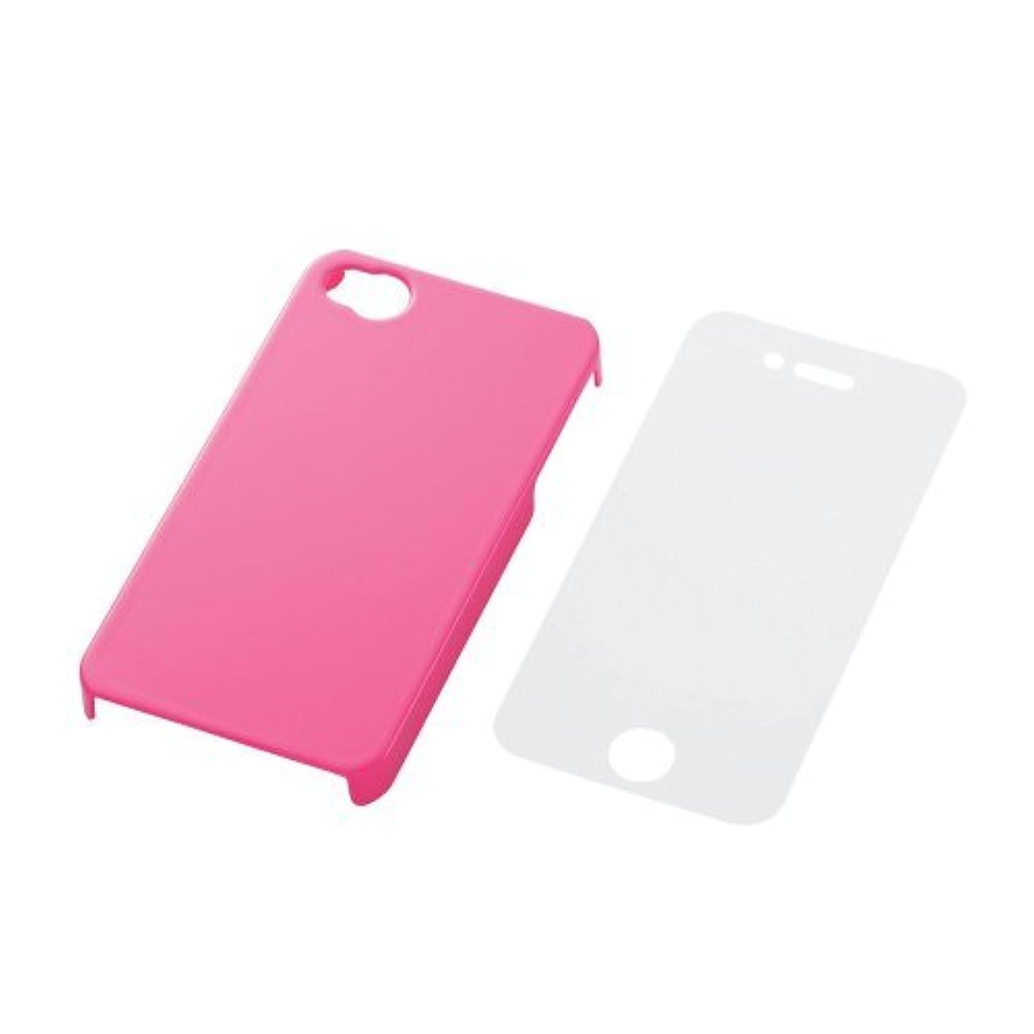 削除する秘密の慰めELECOM iPhone4S 対応 シェルカバー ピンク PS-A11PVPN