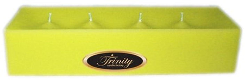 寛大なテロリスト版Trinity Candle工場 – レモングラス – Pillar Candle – 12 x 4 x 2 – ログ