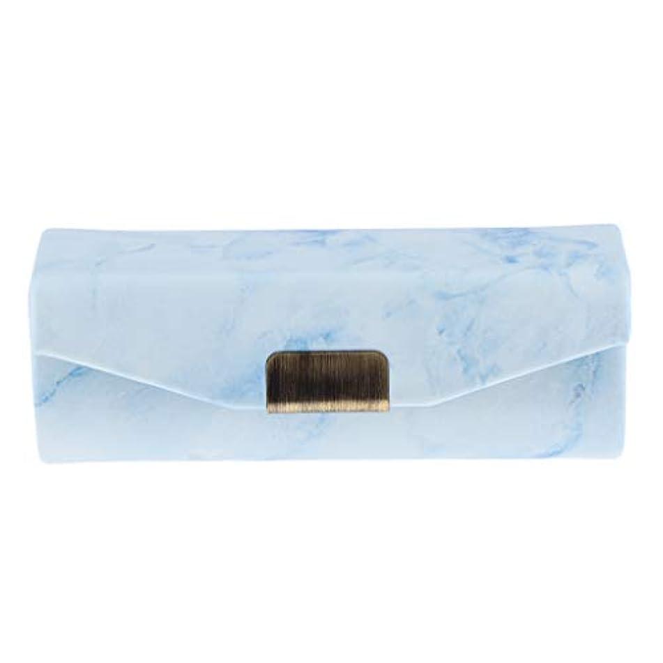詩解任ハングリップスティックケース ミラー付き 口紅 コインケース 小物入り 実用的 6色選べ - ライトブルー