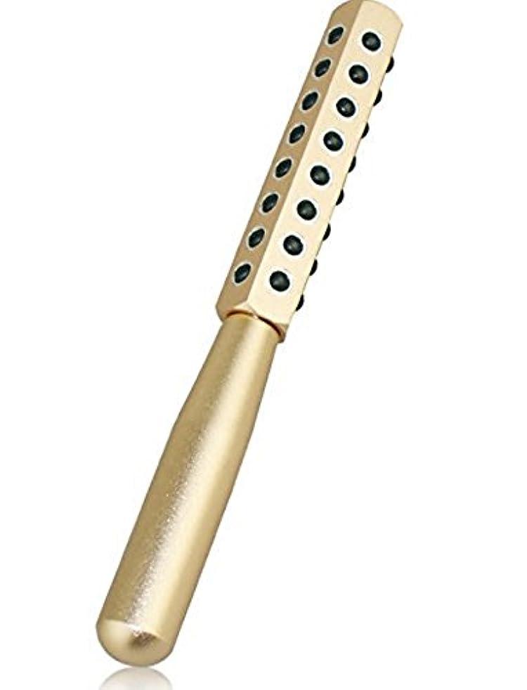 平日本質的ではないテンションCREPUSCOLO ゲルマローラー 美顔器 美肌 ハリ ツヤ ほうれい線 純度99% ゲルマニウム粒子40粒/額 ほほ 目じり あご~首すじ デコルテ 二の腕 手の甲 気になるところをコロコロ ゴールド シルバー (ゴールド)