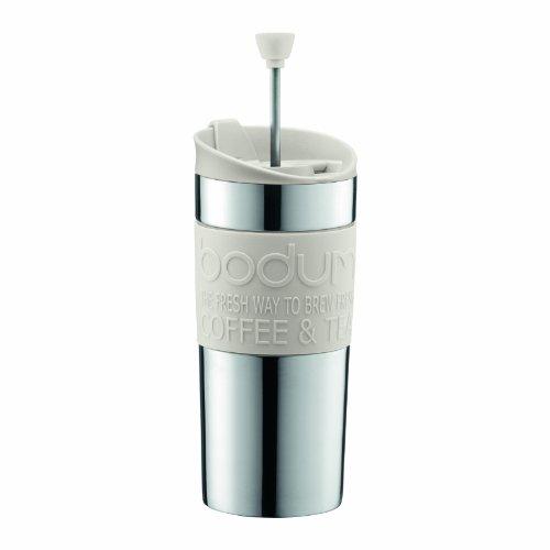 【正規品】 BODUM ボダム TRAVEL PRESS SET マグ用リッド付コーヒーメーカー 350ml オフホワイト K11067-913