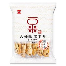 岩塚製菓 大袖振豆もち あっさり塩味 1箱(11枚入×12袋)