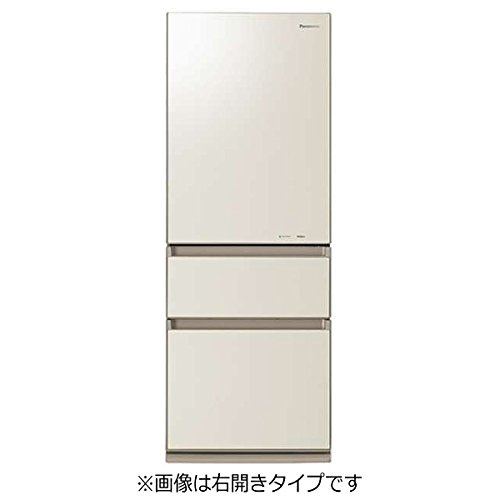 パナソニック315L 3ドア冷蔵庫(クリアシャンパン)【左開き】PanasonicエコナビNR-C32FGML-N