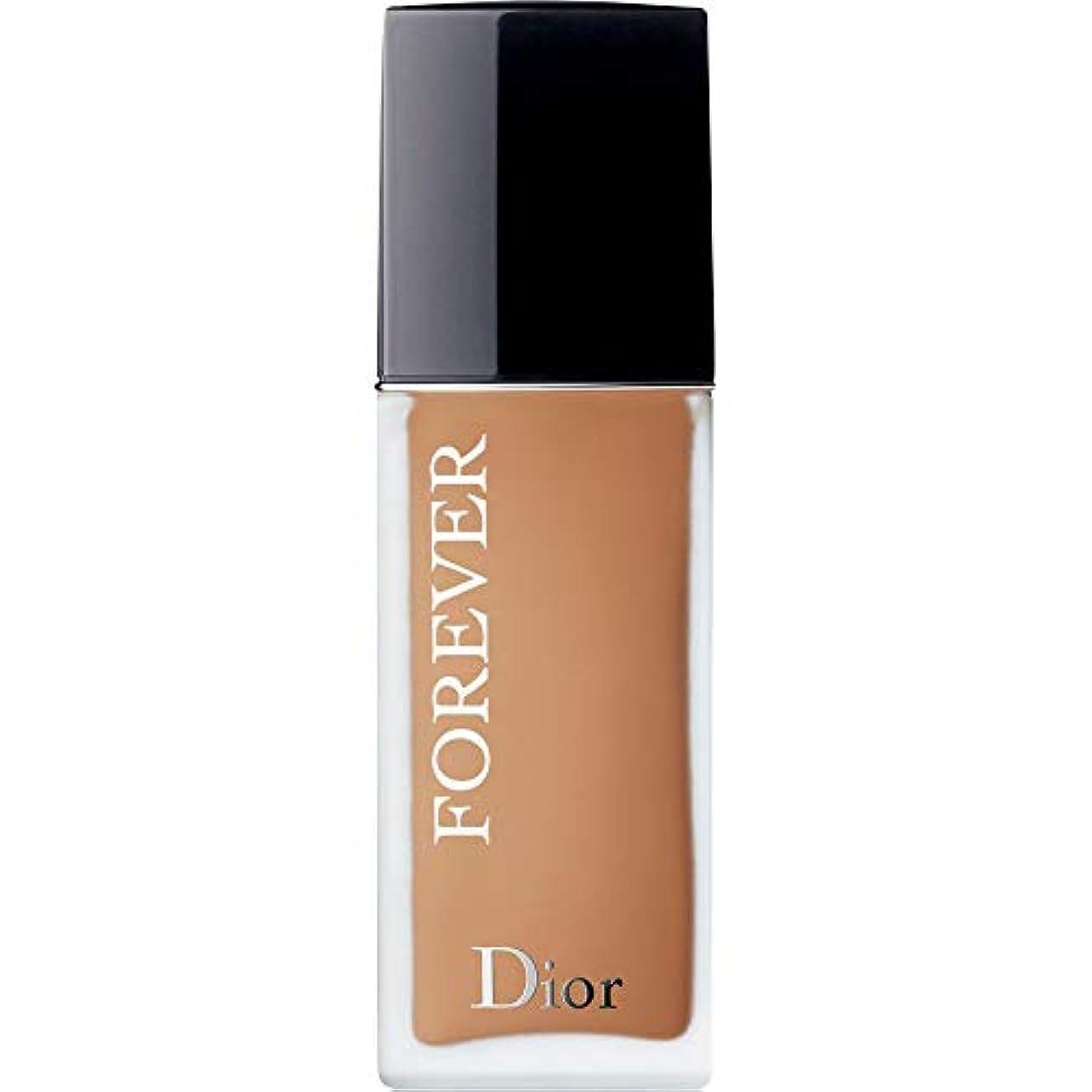 カエル折る出発する[Dior ] ディオール永遠皮膚思いやりの基盤Spf35 30ミリリットルの4.5ワット - 暖かい(つや消し) - DIOR Forever Skin-Caring Foundation SPF35 30ml 4.5W...