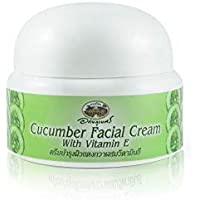Abhaibhubejhr Cucumber Herbal Facial Cream With Vitamin E 40g. Abhaibhubejhrキュウリハーブフェイシャルクリーム(ビタミンE入り)40g