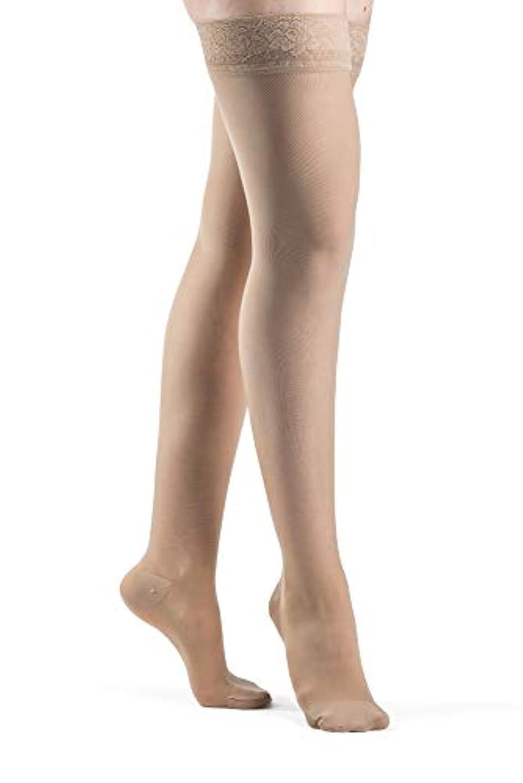 郵便物ピービッシュ白鳥Sigvaris Ever Sheer Thigh High 20-30mmHg Women's Closed Toe, M1, Natural - 782NMLW33 by Sigvaris