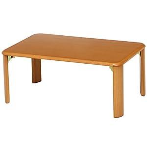 不二貿易 ローテーブル 折りたたみテーブル 75×50 ナチュラル 40139