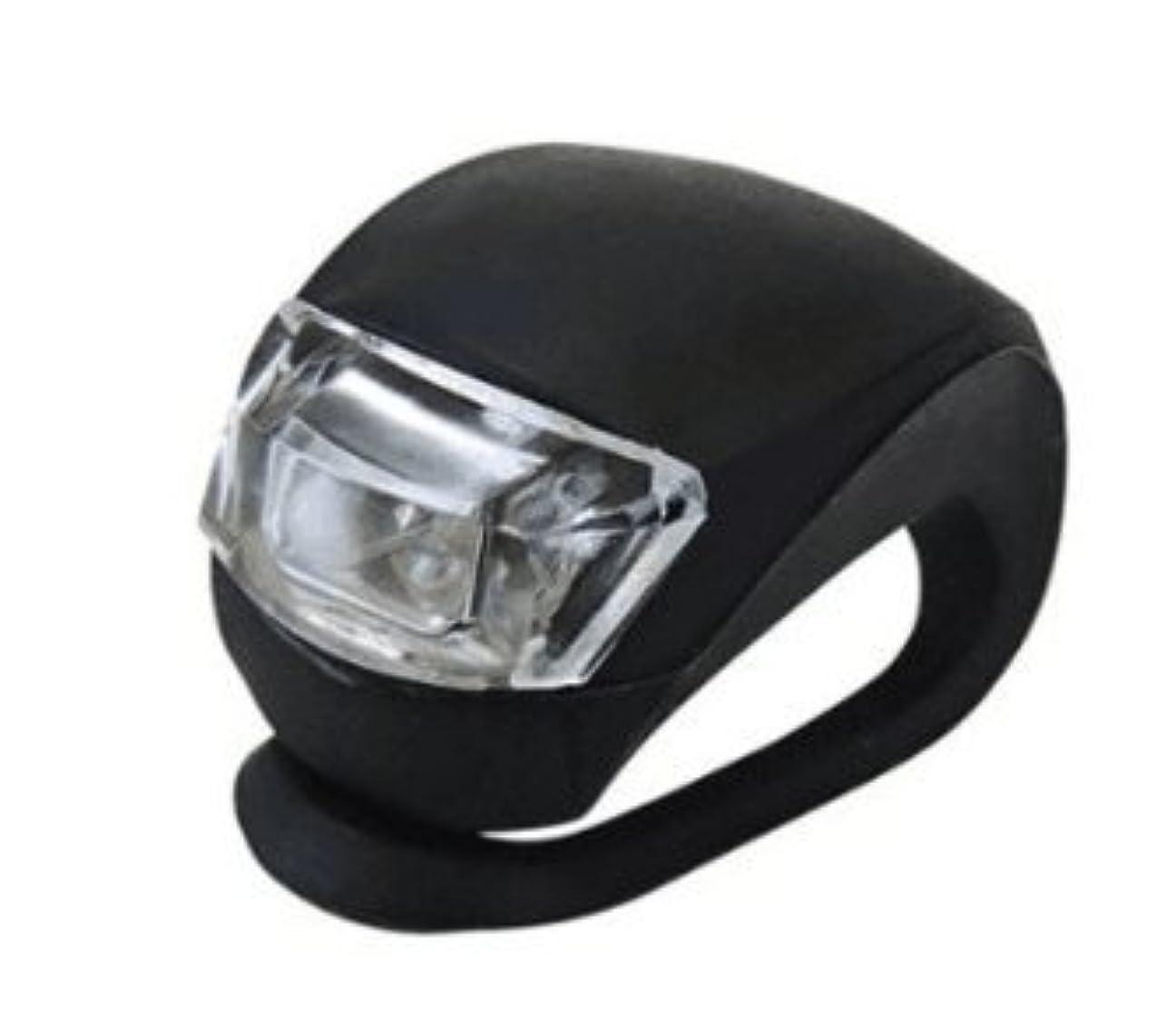 先史時代の厄介な宿る高輝度LED2灯 シリコン 自転車簡易装着 フロントライト