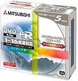 三菱化学メディア DTR47JP5 4.7GB DVD+Rディスク