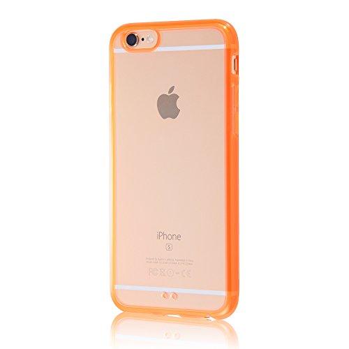 レイ・アウト iPhone6/6s ケース ハイブリッド(TPU+ポリカーボネイト)ケース オレンジ RT-P9CC2/TO