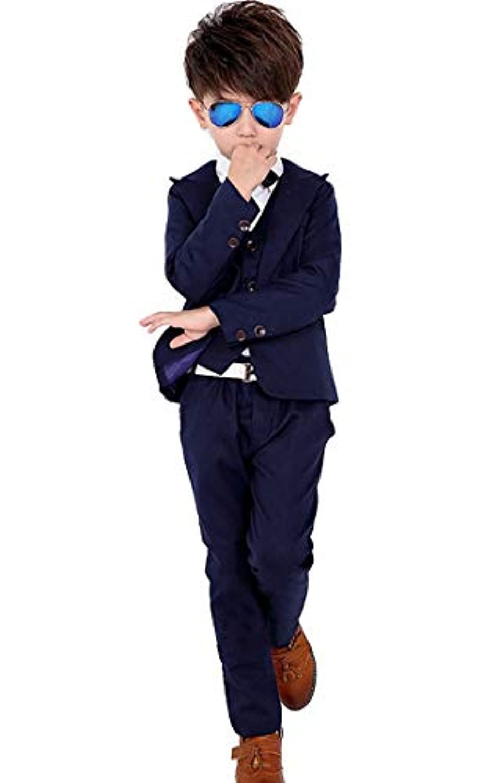 SIJIYIREN キッズ フォーマル スーツ 男の子 スーツセット 紳士服 発表会 入園式 入学式 卒業式 結婚式 七五三 誕生日 90-150cm