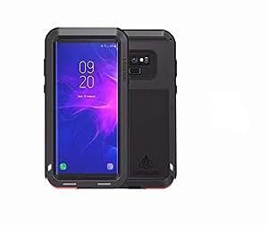 【Nelson- JP 】LOVE MEI正規品 Samsung note 9 ケース カバー 軍用 耐衝撃 生活防水 防塵 金属/メタル タフケース 正規品 (ブラック)