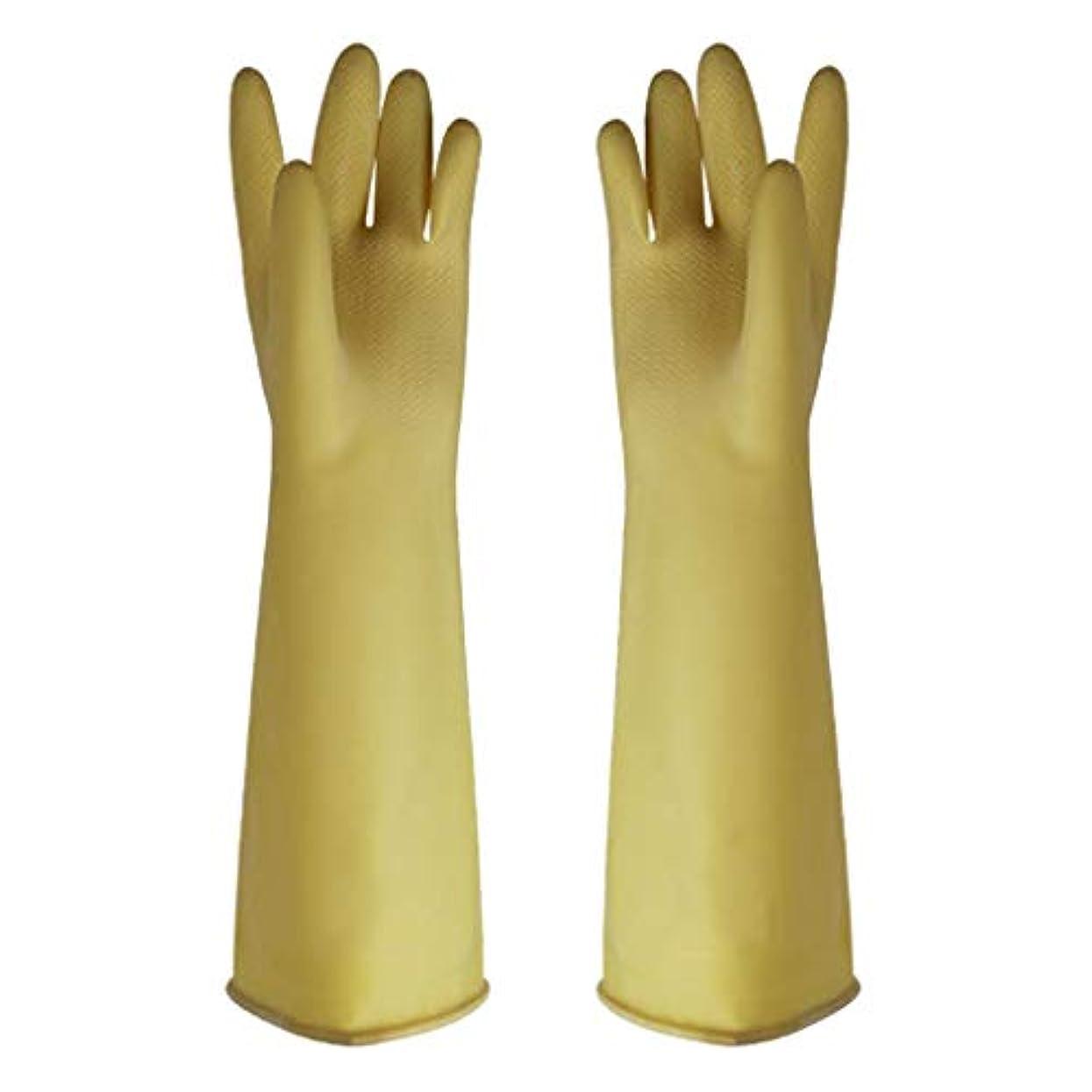 光タッチ物理的にゴム手袋 - 家庭用クリーニング用の耐摩耗性のある酸とアルカリ耐性の増粘厚さ45cm