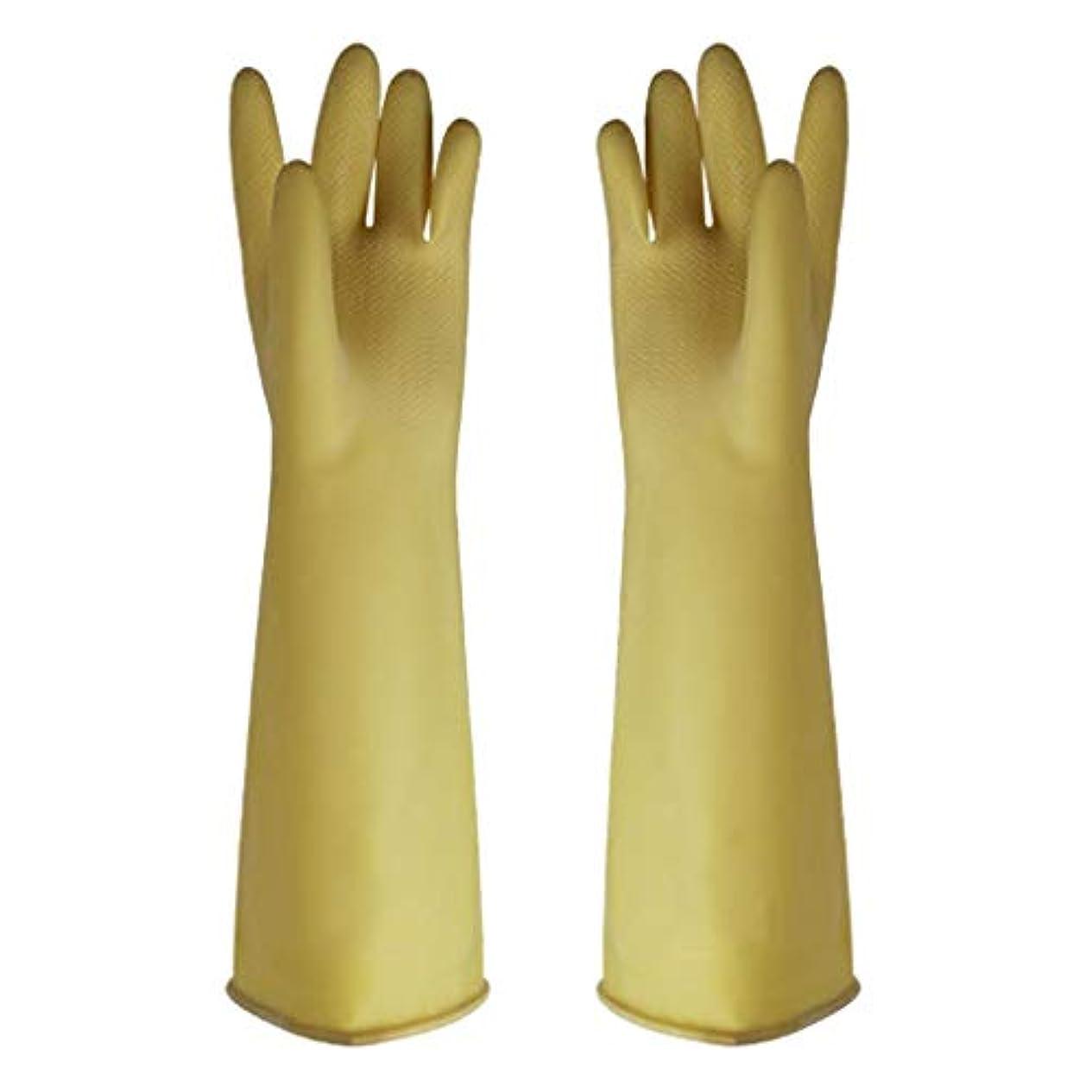 頬ディレクター艶ゴム手袋 - 家庭用クリーニング用の耐摩耗性のある酸とアルカリ耐性の増粘厚さ45cm