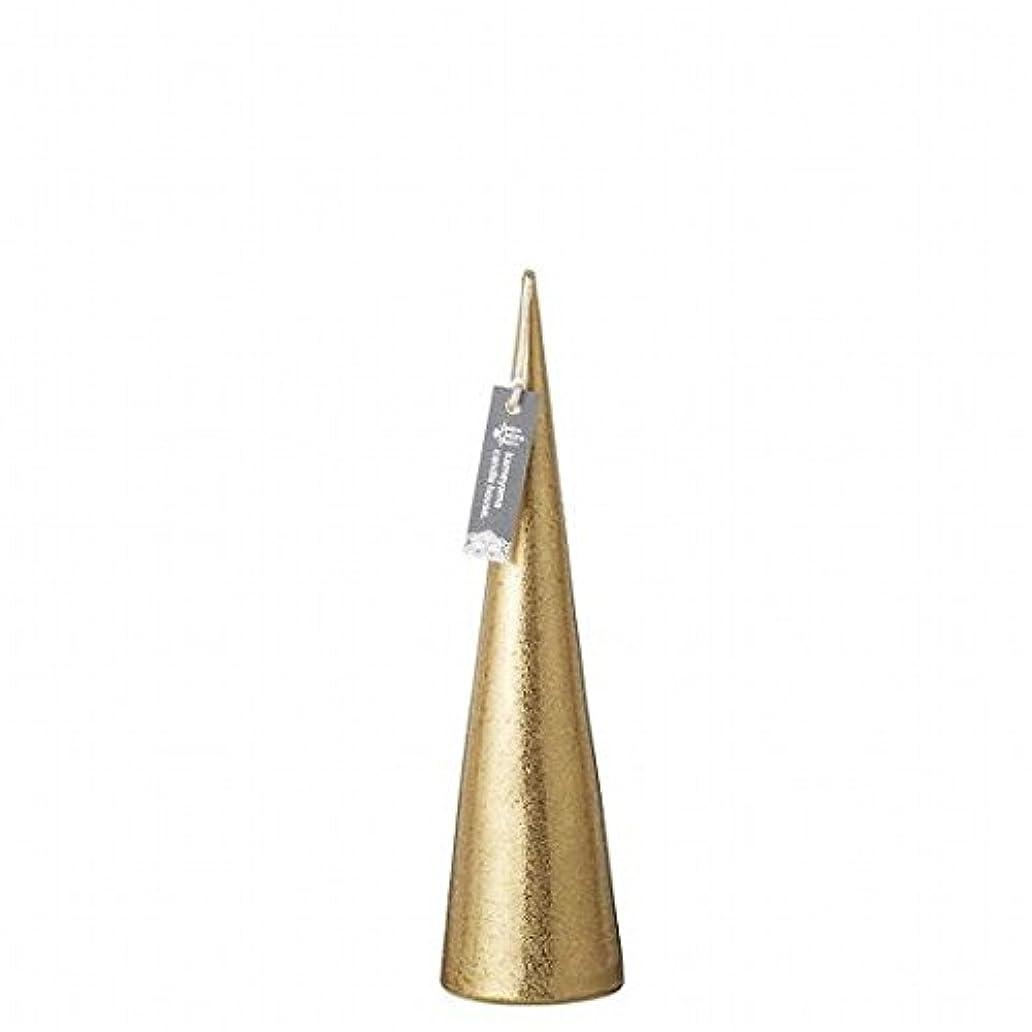 麻酔薬広告主建築家kameyama candle(カメヤマキャンドル) メタリックコーンM「 ゴールド 」(A9560110GO)