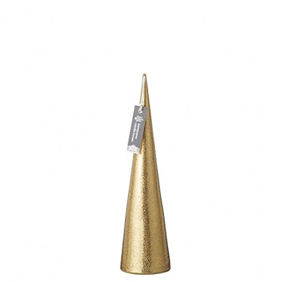 寛大なきらめき定期的にkameyama candle(カメヤマキャンドル) メタリックコーンM「 ゴールド 」(A9560110GO)
