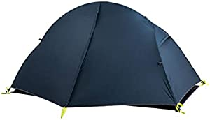 Naturehike テント 1人用 アウトドア 自立式 二重層 4シーズン サイクリング 自転車旅行 超軽量 防水PU3000以上 キャンピング 登山 (ネイビー(20Dシリカゲルナイロン))