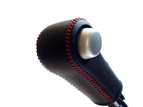 トリコローレエクスチェンジHA36アルト ターボRS/F 黒革×赤ステッチ 3S-33B1B1R DIYシフトノブ本革巻き替えキット