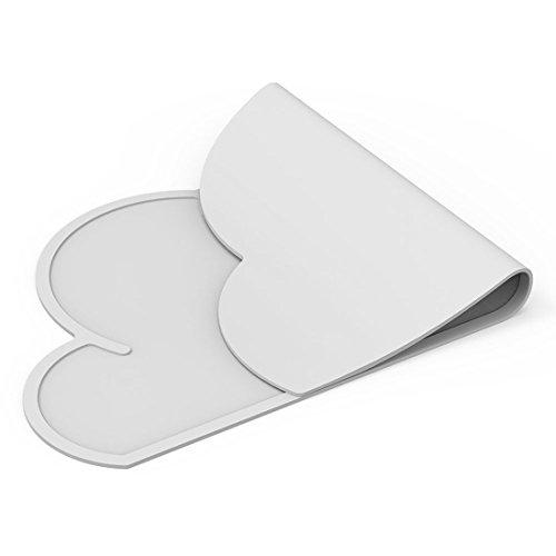 RoomClip商品情報 - T&B 食事マット シリコン キッズ ランチョンマット 撥水食べこぼしマット 子供用 丸洗い 可愛い 雲 (グレー)