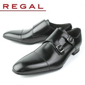 ブラック 24.0 REGAL リーガル 636R AL ダブルモンク ビジネスシューズ