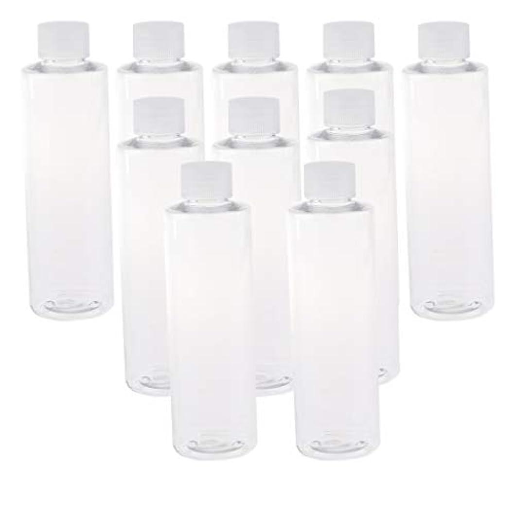 自分ジョージスティーブンソン美しい全3色 200ミリリットル PETボトル 空のボトル プラスチックボトル 詰替え容器 - クリアキャップ