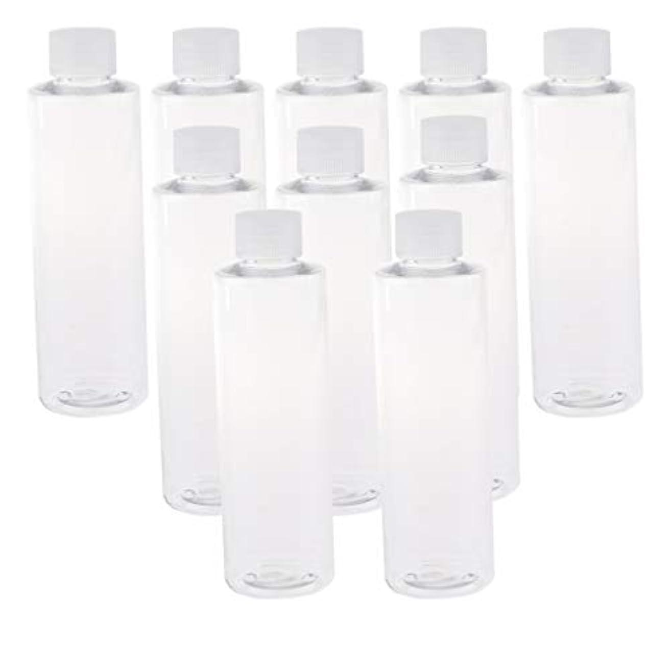 現れるパステル広くF Fityle 全3色 200ミリリットル PETボトル 空のボトル プラスチックボトル 詰替え容器 - クリアキャップ