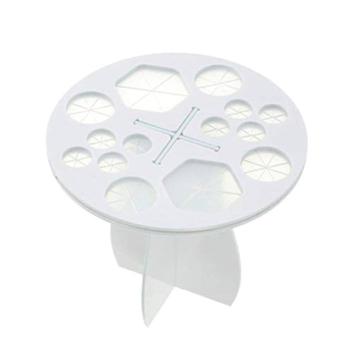 鷹むしゃむしゃ愚かFrcolor メイクブラシホルダー 化粧ブラシスタンド 化粧ブラシ干しラック 化粧筆収納 組み立て可能 14本収納可能(ホワイト)