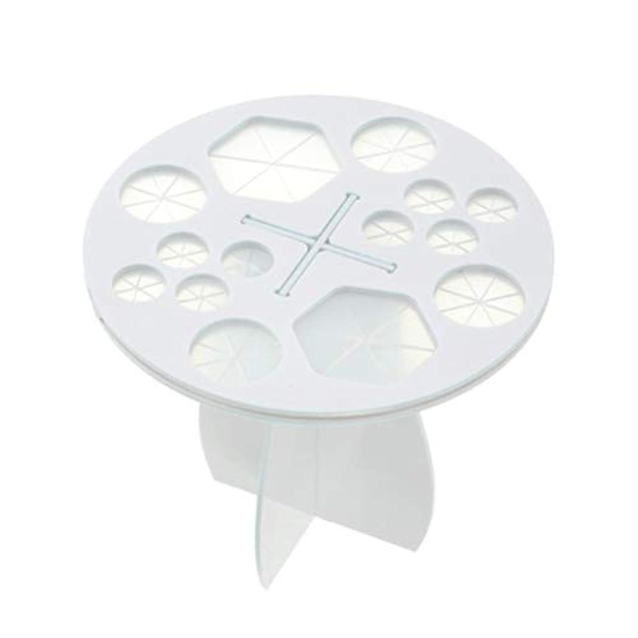 グラフ目覚める傾向がありますFrcolor メイクブラシホルダー 化粧ブラシスタンド 化粧ブラシ干しラック 化粧筆収納 組み立て可能 14本収納可能(ホワイト)
