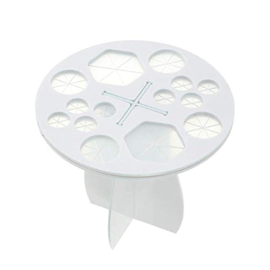摘むファンブルまさにFrcolor メイクブラシホルダー 化粧ブラシスタンド 化粧ブラシ干しラック 化粧筆収納 組み立て可能 14本収納可能(ホワイト)