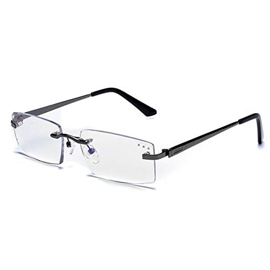 コスチュームラテン交響曲LCSHAN フレームレス老眼鏡スマートズーム遠近両用プログレッシブマルチフォーカスダブルライト (Color : 250 degrees)
