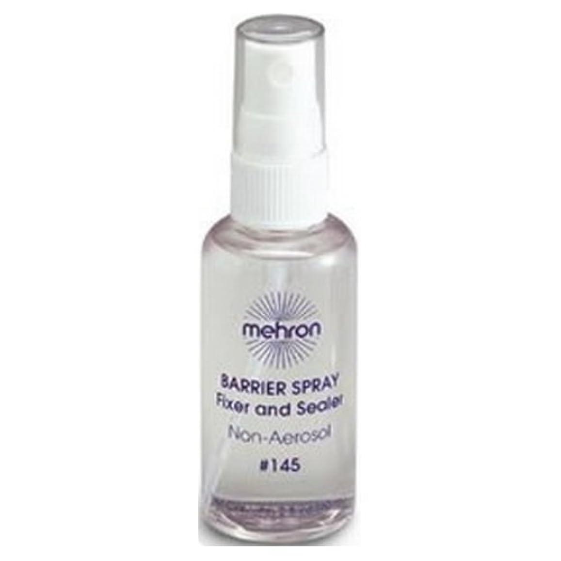 カバレッジ形容詞気体の(3 Pack) mehron Barrier Spray Fixer and Sealer - Clear (並行輸入品)