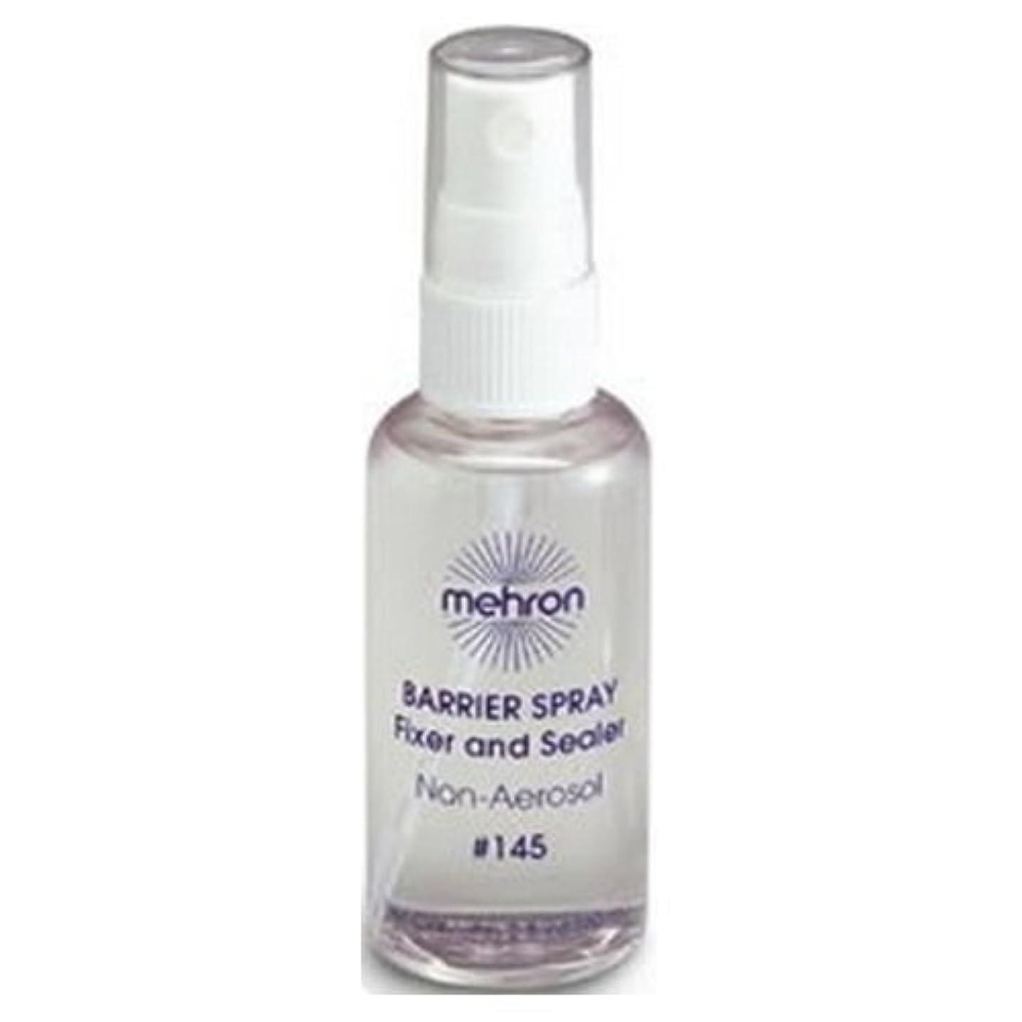 だらしない悪用何故なの(3 Pack) mehron Barrier Spray Fixer and Sealer - Clear (並行輸入品)