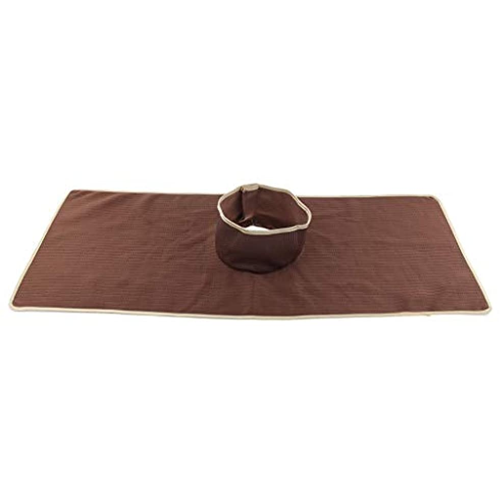 おグレータヒチFLAMEER マッサージのベッド用 パッド マット 顔の穴付き 洗える 約90×35cm 全3色 - コーヒー